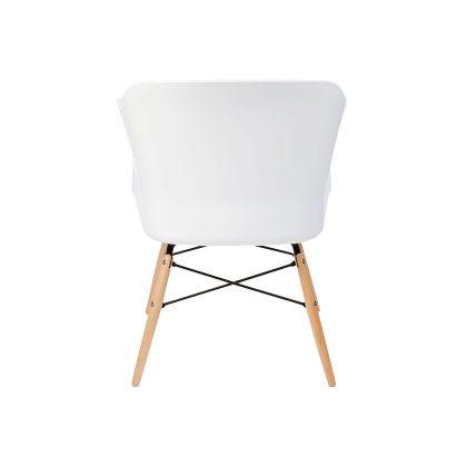 Cadeira | Contemporânea | Elegante | Branca | Costas | E.CAD-15