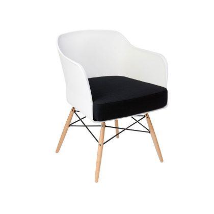 Cadeira | Contemporânea | Elegante | Branca | Perfil | E.CAD-15