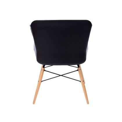 Cadeira | Contemporânea | Elegante | Preta | Costas | E.CAD-15
