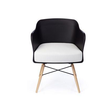 Cadeira | Contemporânea | Elegante | Preta | Frente | E.CAD-15