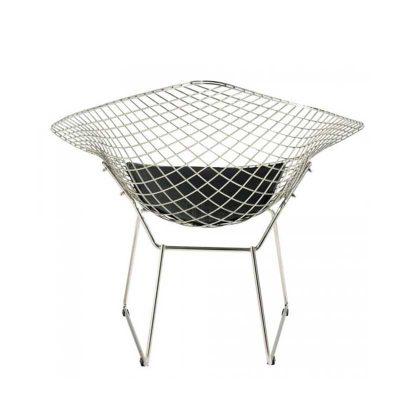 Cadeira | Moderna | Original | Preta | Perfil | Costas | E.CAD-17