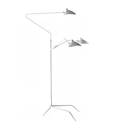 Candeeiro de Pé | Iluminação | 3 Lâmpadas | Base em Tripé | Branco | IC-CND-12