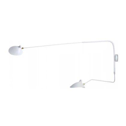 Candeeiros | Candeeiro de Parede | Iluminação | Com Braço e 2 Lâmpadas | Sala | Branco | IP-CND-3 | Iluti