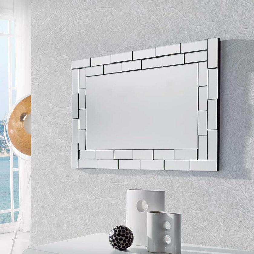 Espelho de parede bisotado elegante d esp 2 iluti - Espejos de pared modernos ...