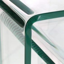 Mesas de Apoio | Conjunto de Trê | Vidro Transparente | E.MSA-2