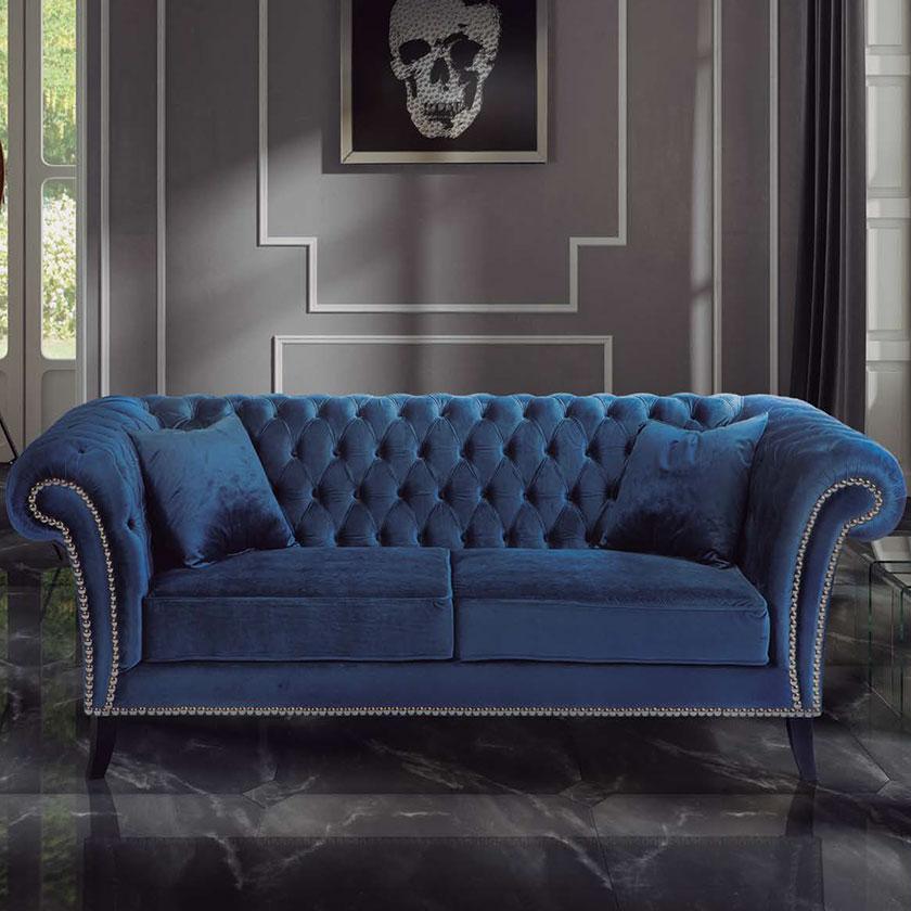 Elegante Sofas sofa stylish blue velvet e sfa 1 iluti