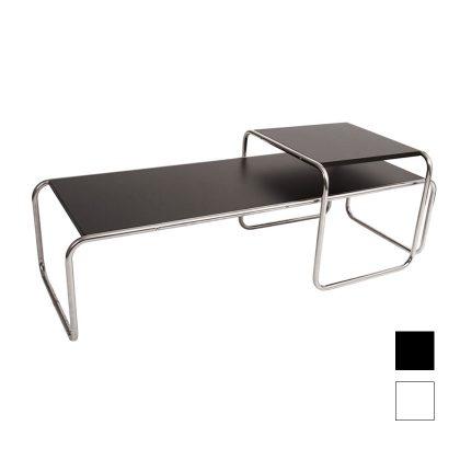 Mesa De Centro | Sala De Estar | Conjunto De Duas Mesas De Centro | Preta | E.MSA-34