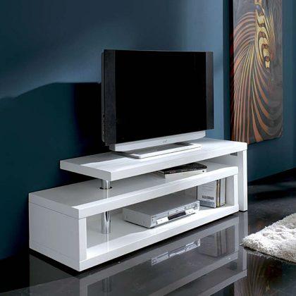 Móvel TV   Branco Art Déco   Sala De Estar   E.MTV - 2