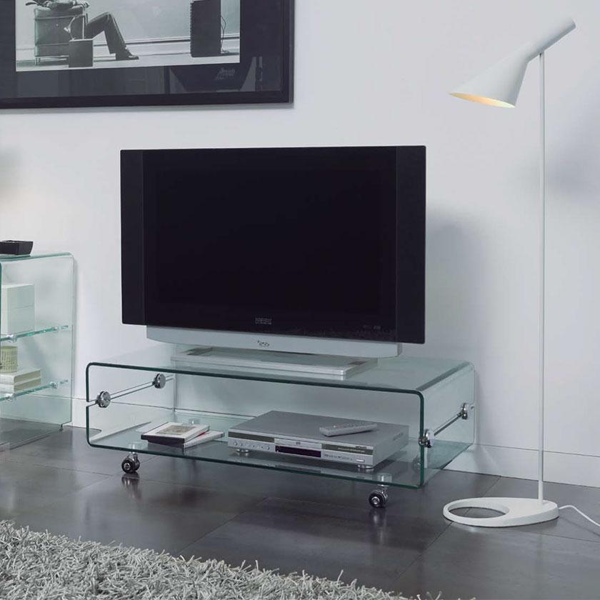 M vel de tv vidro elegante e mtv 1 iluti for Mesas para tv baratas