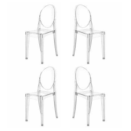 Cadeira De Jantar   Design   Conjunto de Quatro   Canto   J.CDA-19P