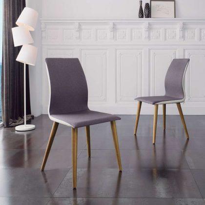 Cadeira De Jantar   Sala De Jantar   Estilo Escandinavo   Conjunto 2   Ambiente   J.CDA-22