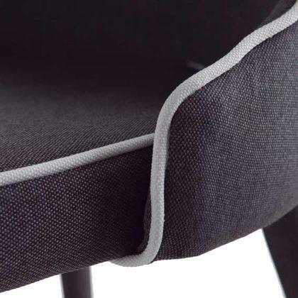 Cadeira Para Sala De Jantar   Estilo Contemporâneo   Conjunto 2   Tecido   J.CDA-26