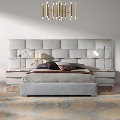 Cama | Marfim | Design Moderno | Q.CMA-101