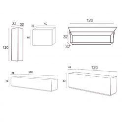 Móvel TV | Composição Modular | Medidas | E.CMO-13