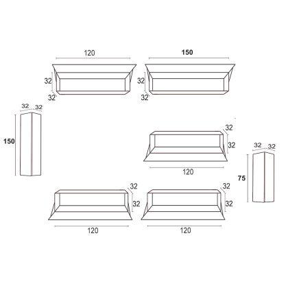 Móvel TV | Composição Modular | Medidas | E.CMO - 19