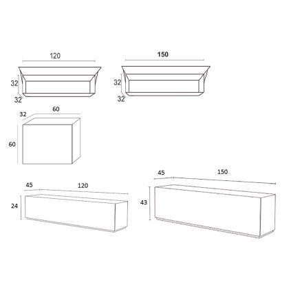 Móvel TV | Composição Modular | Medidas | E.CMO-31